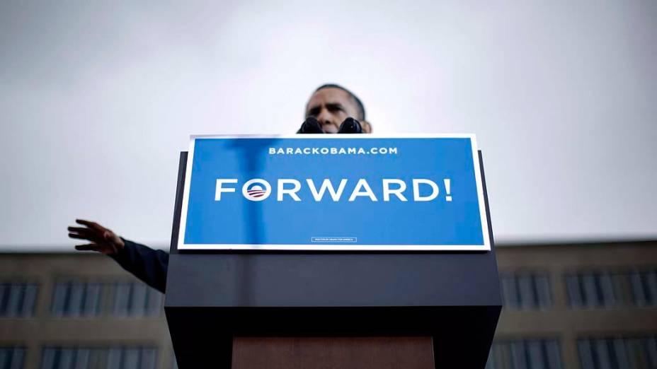 Barack Obama durante campanha em Madison