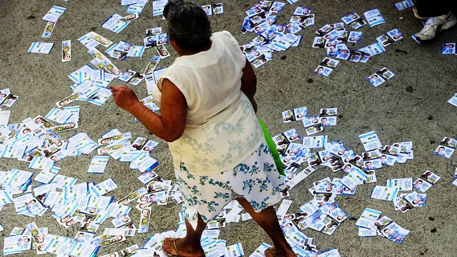 A movimentação de eleitores é intensa desde as 8h na favela da Rocinha, na Zona Sul do Rio