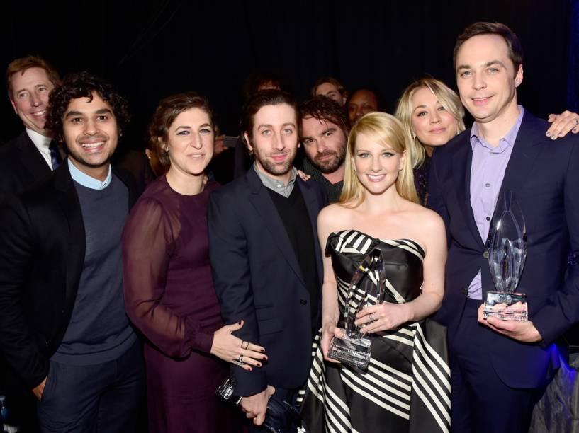 Elenco de The Big Bang Theory no People's Choice Awards 2016