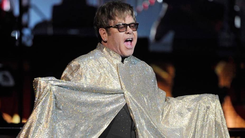 Elton John se apresenta em Las Vegas, em 2011