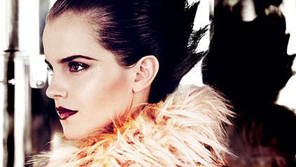 A atriz Emma Watson na revista Vogue, edição de julho de 2011