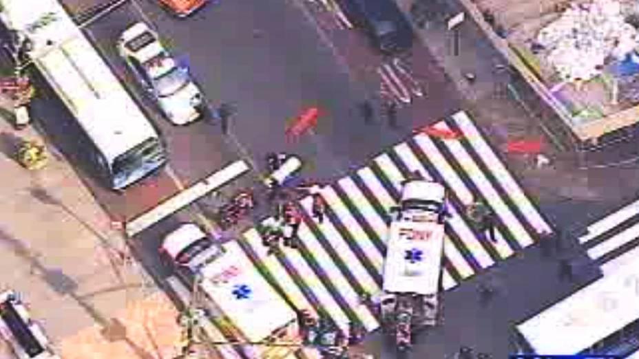 Um tiroteio próximo ao prédio Empire State, em Nova York, deixou mortos e feridos nesta sexta feira