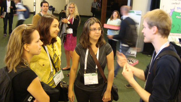 Empreendedores se encontram após palestras do TechCrunch Disrupt