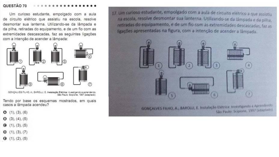 Confira a comparação entre questões do Enem 2011 e as que foram aplicadas em simulado de colégio em Fortaleza. À esquerda, as questoes do Enem; à direita, as do colégio Christus