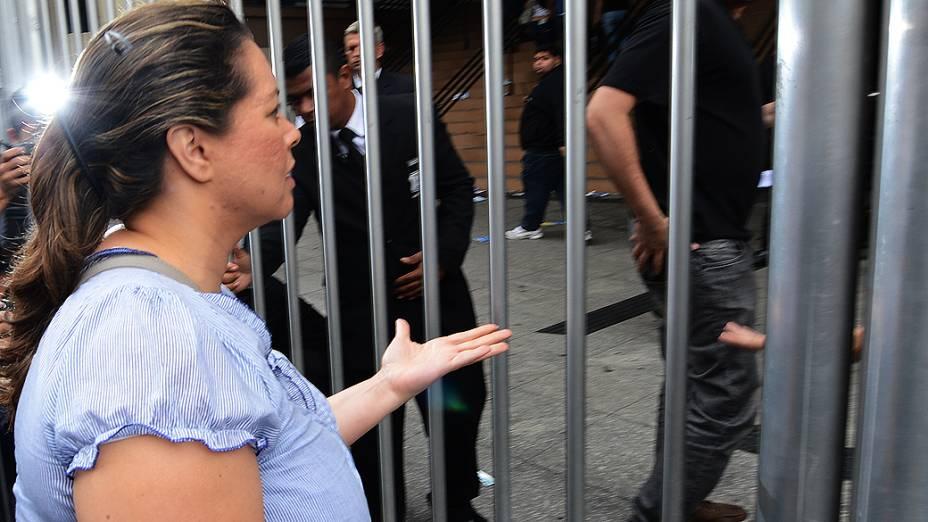 Estudante atrasado no primeiro dia de provas do Enem na Uninove, em São Paulo