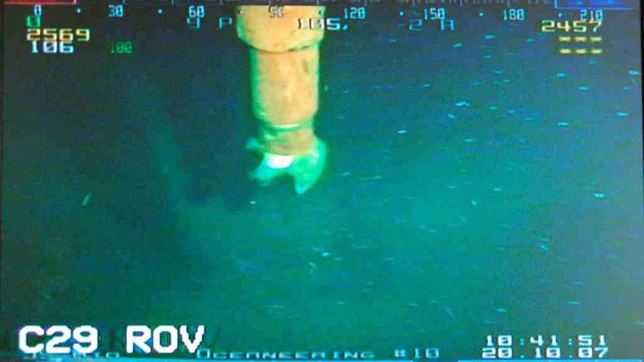 <p>Par bater o recorde mundial de profundidade, as brocas do navio Chikyu tiveram de perfurar mais de 2.000 metros de rochas no fundo da água</p>