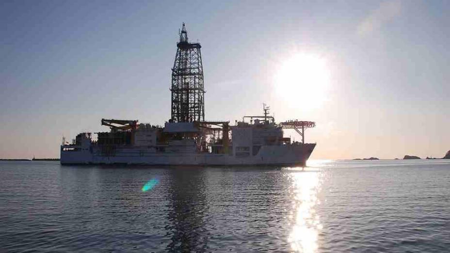 <p>O navio Chikyu foi construído em 2002 para ser usado em missões do IODP</p>