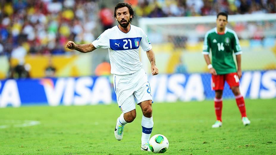 Pirlo durante partida entre Itália e México pela Copa das Confederações, no Maracanã