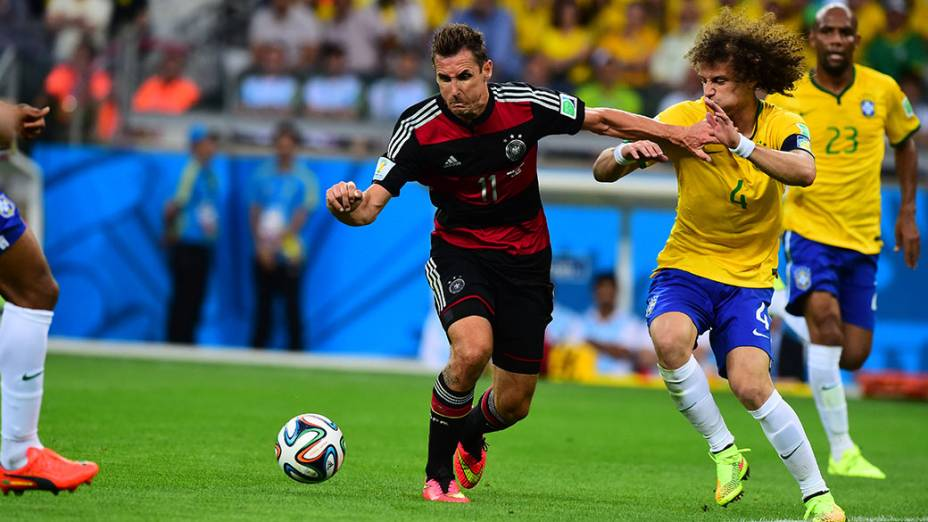 Klose durante o jogo contra o Brasil