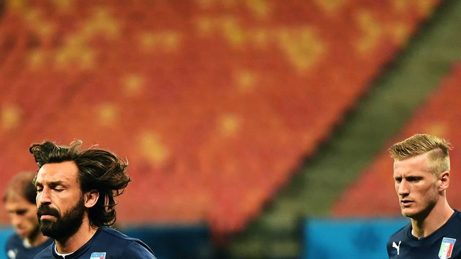 O meia da seleção italiana Andrea Pirlo