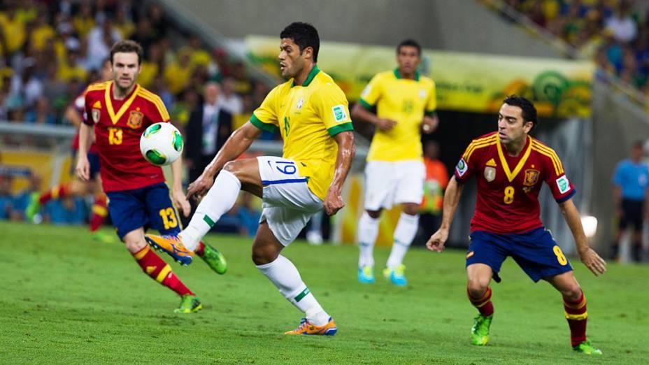 Hulk no estádio do Maracanã durante final da Copa das Confederações entre Brasil e Espanha, no Rio de Janeiro