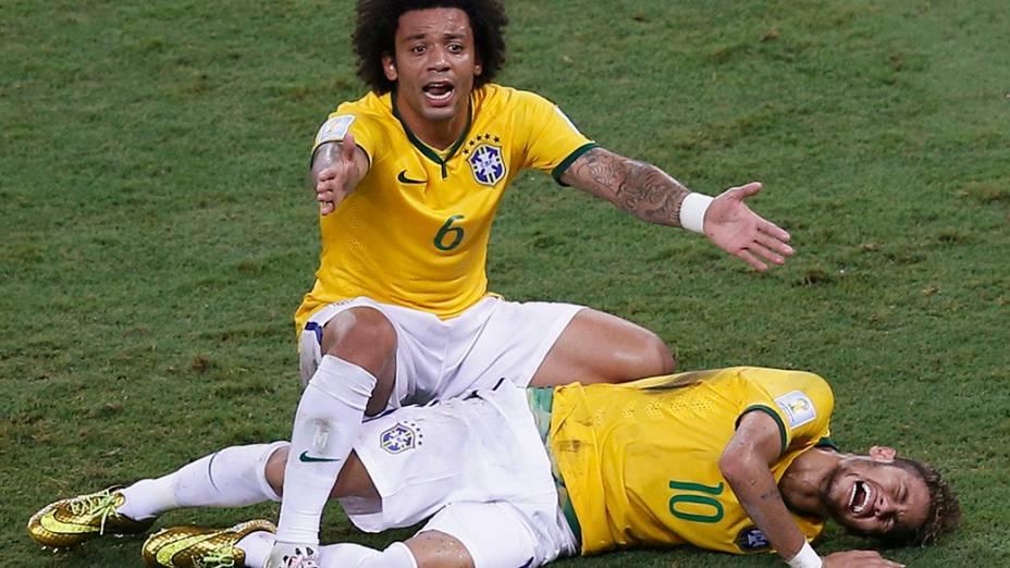 Marcelo pede assistência médica para Neymar