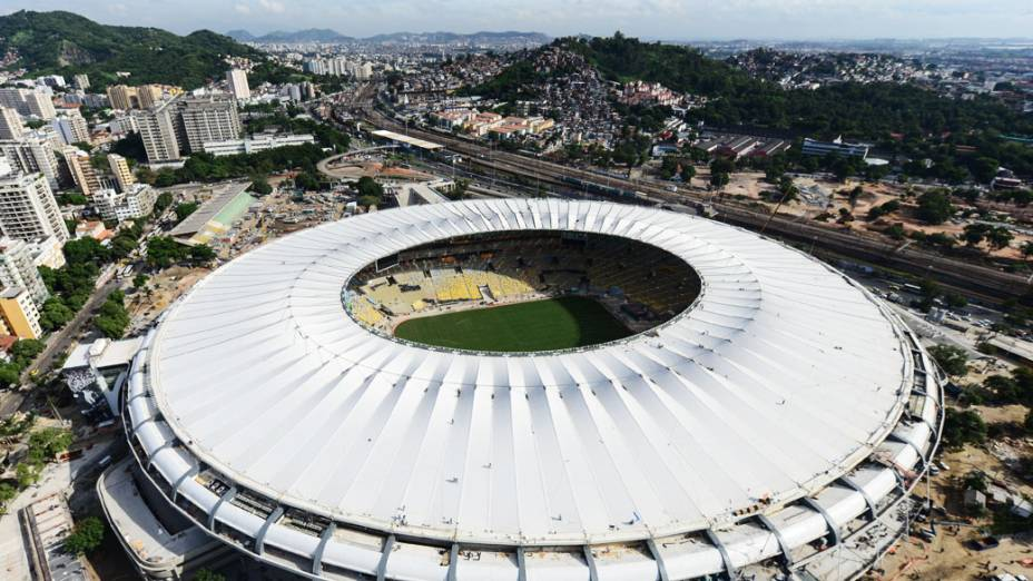 Vista aérea do Estádio do Maracanã