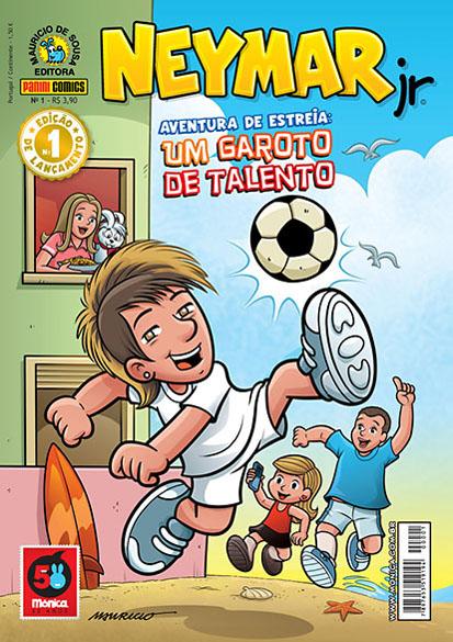 Neymar vira capa de gibi de Maurício de Sousa
