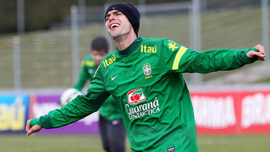 Kaká, durante treino da seleção brasileira nesta terça feira (19) em Genebra, Suíca antes do amistoso contra a Itália