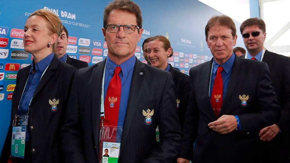 Comissão técnica da Rússia chega para o sorteio da Copa do Mundo de 2014