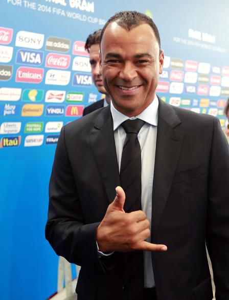 Cafú chega para o sorteio da Copa do Mundo de 2014