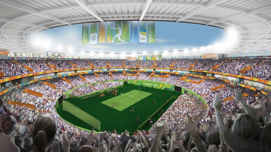 A arte vai compor o visual de todas as instalações dos Jogos Rio 2016, como o Centro Olímpico de Tênis