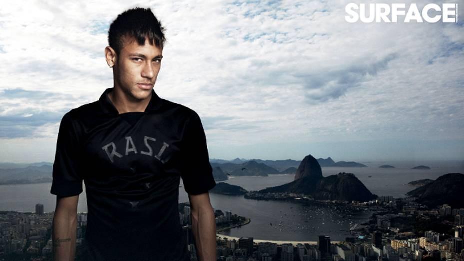 Foto da revista francesa Surface, em que Neymar está na capa e diz ser pretensioso