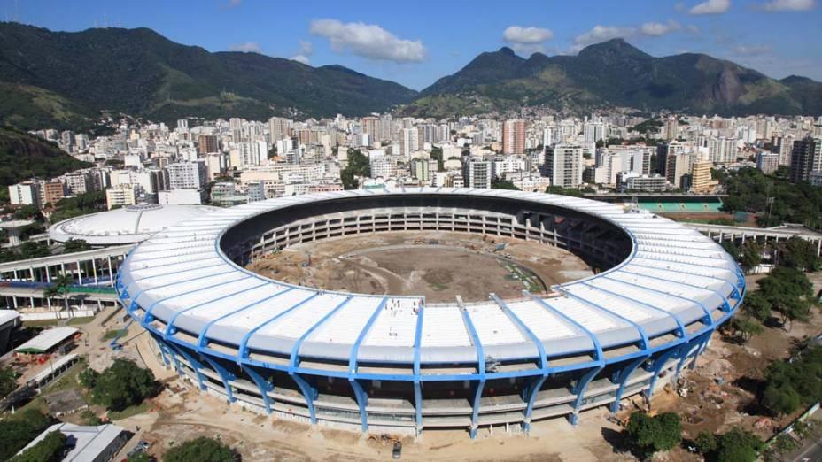 Reforma no estádio do Maracanã no Rio de Janeiro (RJ)
