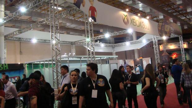 Estande do Xbox 360 na Brasil Game Show