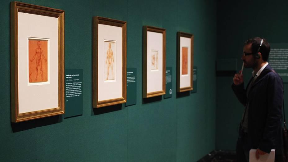 <p>Exposição realizada Palácio de Buckingham reúne estudos do corpo-humano realizados por Leonardo Da Vinci</p>