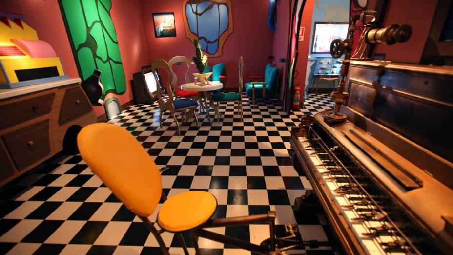 Sala de música recriada no MIS