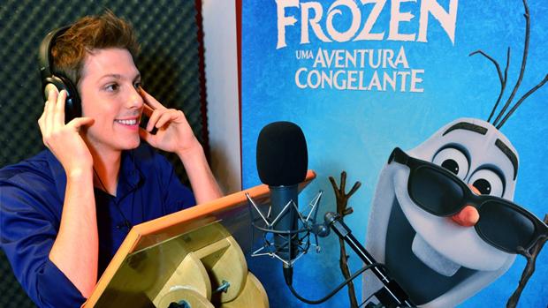 Fábio Porchat dublando 'Frozen', da Disney