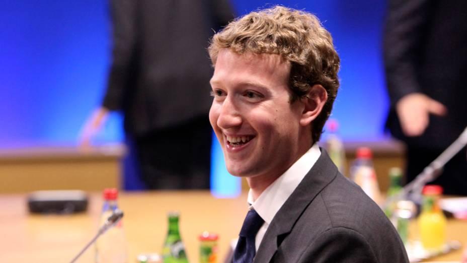 Mark Zuckerberg, fundador do Facebook, durante reunião de cúpula do G8 em maio de 2011, na cidade de Deauville, França