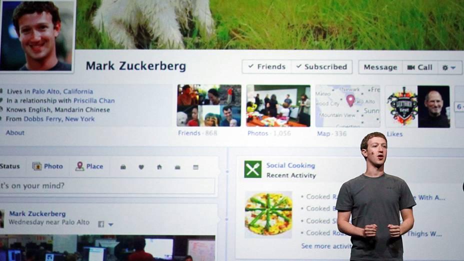 CEO do Facebook apresenta a Timeline, espécie de biografia digital do usuário