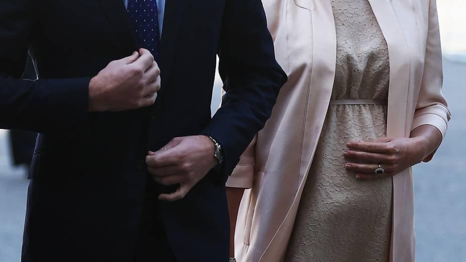 Príncipe William, e a Duquesa de Cambridge chegam para a celebração do 60º aniversário da coroação da rainha Elizabeth II na Abadia de Westminster, em 4 de junho