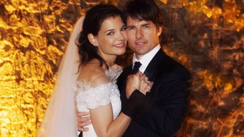 Tom Cruise e Katie Holmes se casaram em novembro de 2006 na Itália