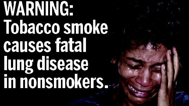 Advertência: o fumo passivo causa doenças pulmonares