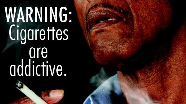 Advertência: O cigarro pode causar vício