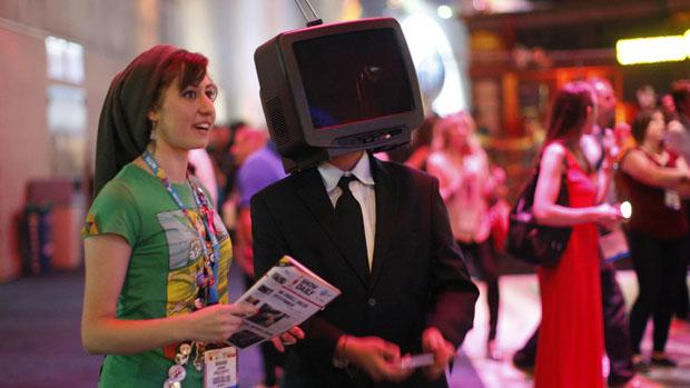 Jogadores durante a Electronic Entertainment Expo, em Los Angeles