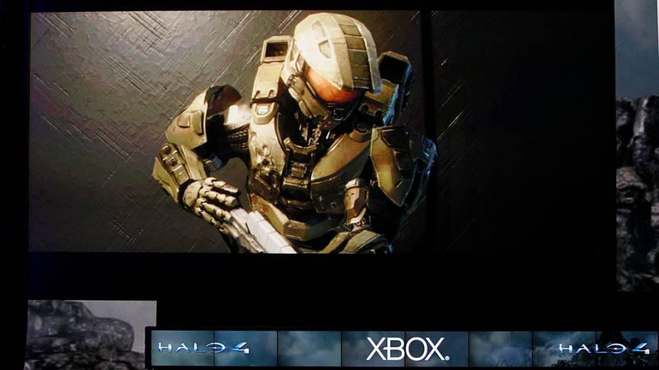 """Cena da nova versão do game Halo, """"Halo 4"""" durante coletiva de imprensa da Microsoft na E3 em Los Angeles"""