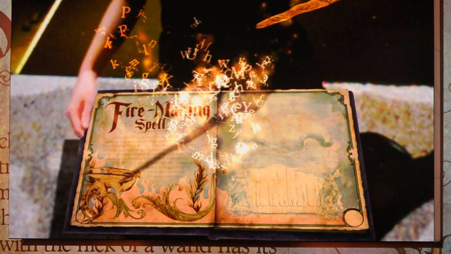 """O """"Livro dos Feitiços"""" por J.K. Rowling, livro interativo desenvolvido para o PlayStation 3 da Sony"""