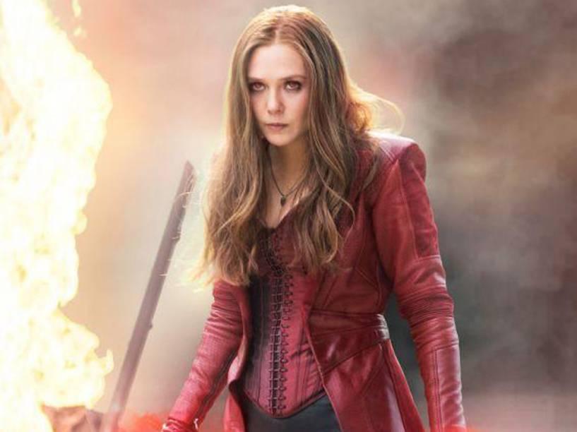 Feiticeira Escarlate (Elizabeth Olsen) no filme Capitão América: Guerra Civil