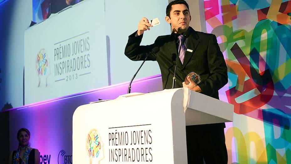 Felipe Machado foi um dos vencedores do Prêmio Jovens Inspiradores