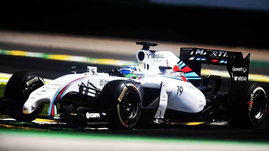 Felipe Massa levou a Williams ao terceiro lugar no GP Brasil 2014