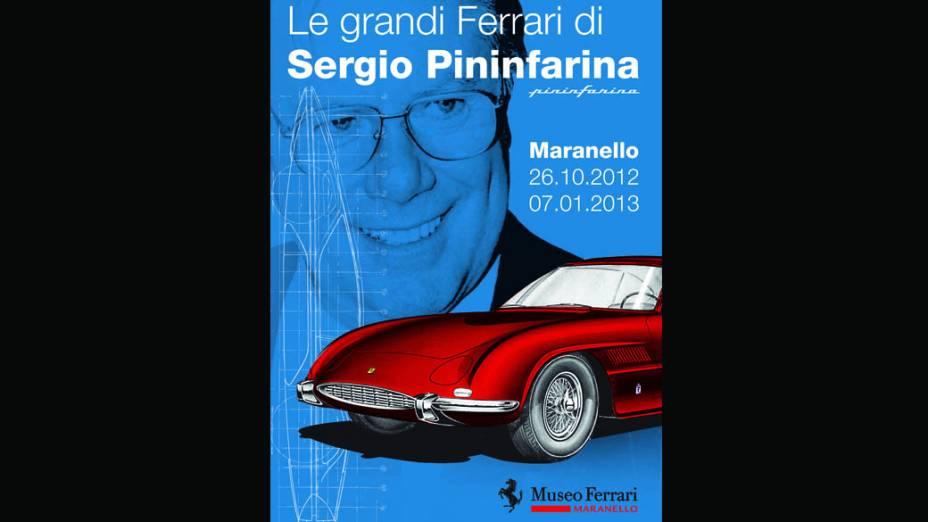 Cartaz da exposição La grandi Ferrari di Sergio Pininfarina realizada no Museu Ferrari em Maranello, Itália