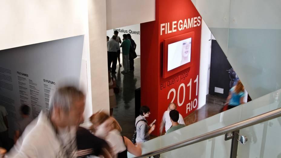 Entrada da exposição FILE Games 2011