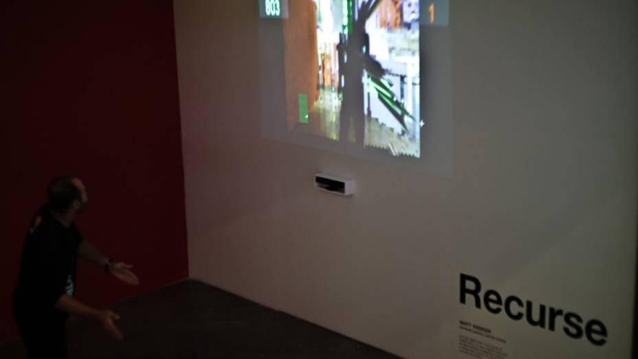 Instalação Recurse, de Matt Parker, usa sensor Kinect para reproduzir movimentos