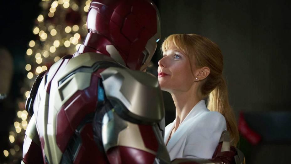 Gwyneth Paltrow vive Pepper Potts, a fiel assistente de Tony Stark, em Homem de Ferro 3