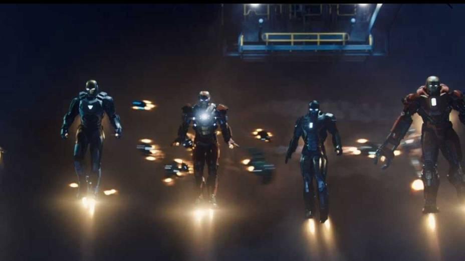 Cena do filme Homem de Ferro 3
