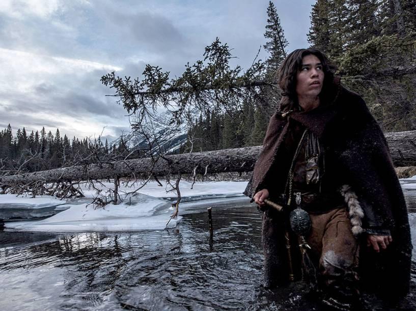 Forrest Goodluck inerpreta Hawk, filho do personagem de Leonardo DiCaprio