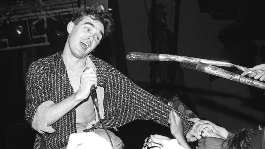 Morrissey em show dos Smiths, em 1985