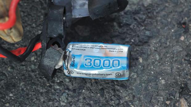Fragmentos da bomba que explodiu na maratona de Boston