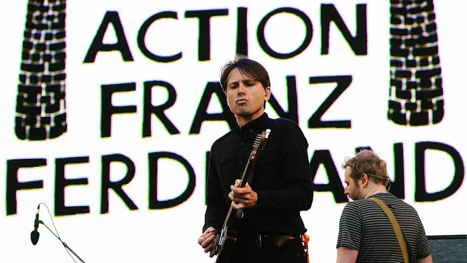 Franz Ferdinand no segundo dia do festival Lollapalooza em São Paulo