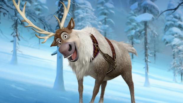 A rena Sven, personagem da animação Frozen: Uma Aventura Congelante